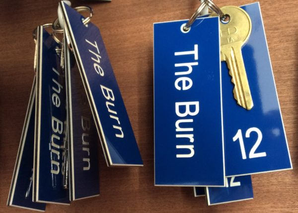 The Burn room keys