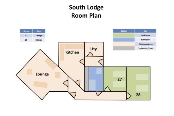 The Burn - South Lodge Room Plan